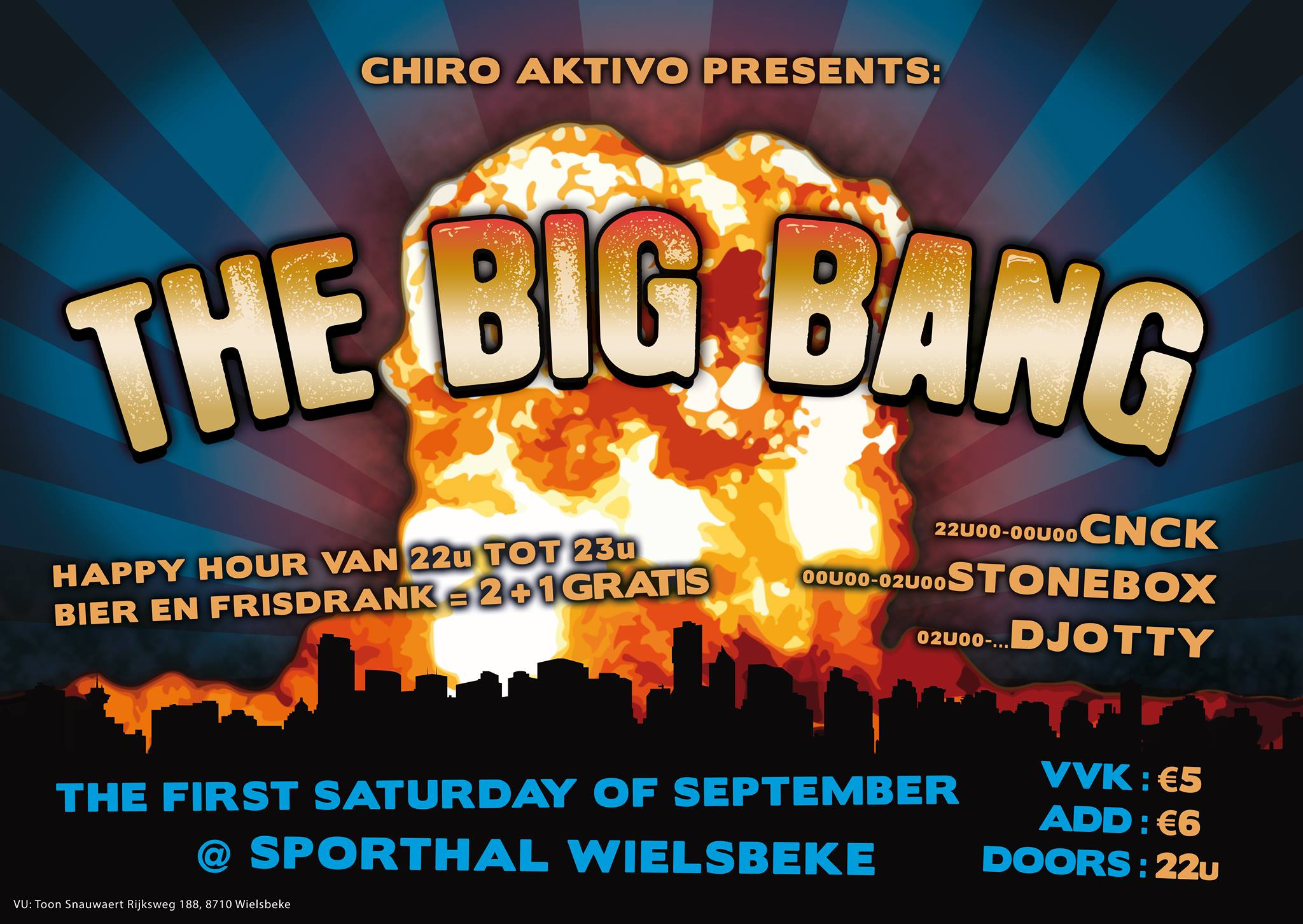 The Big Bang affiche op 02/09/2017