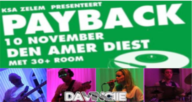 30+party at Payback affiche op 10/11/2018
