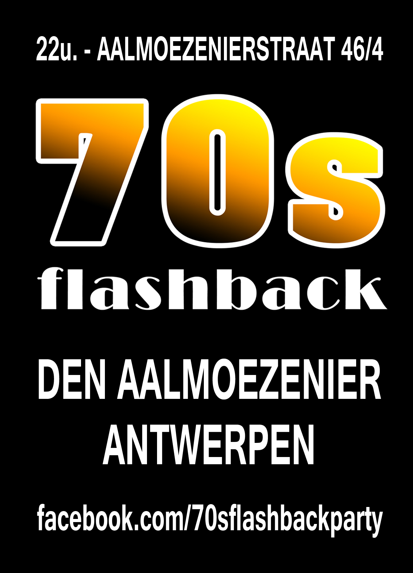 70s Flashback Party affiche op 16/05/2020