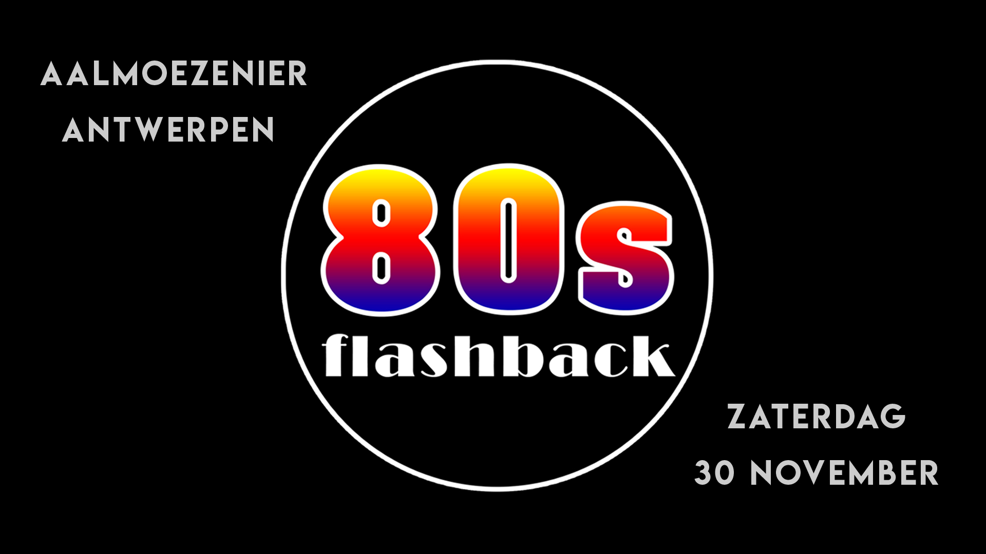80s Flashback Party affiche op 30/11/2019