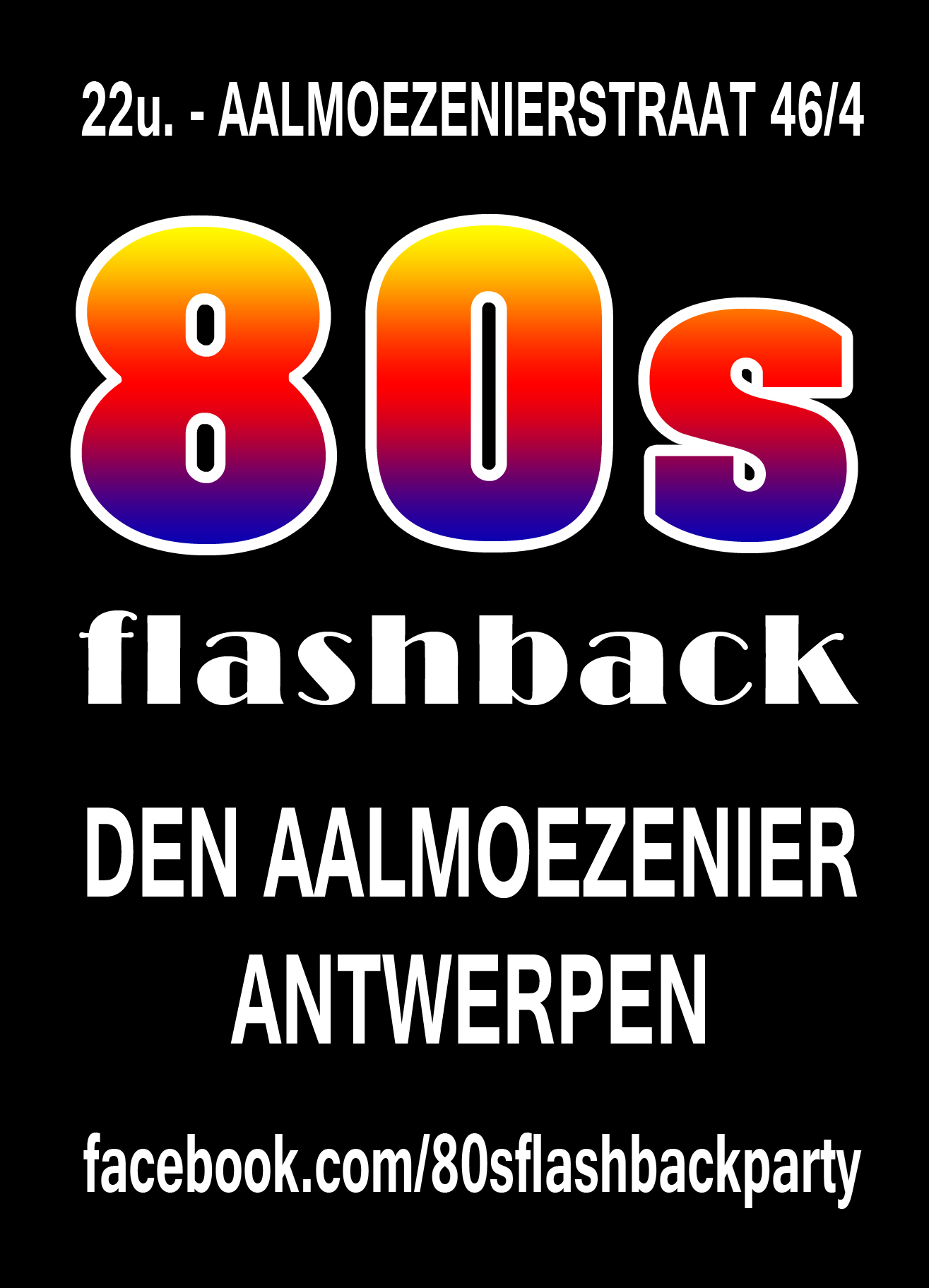 80s Flashback Party affiche op 20/04/2019