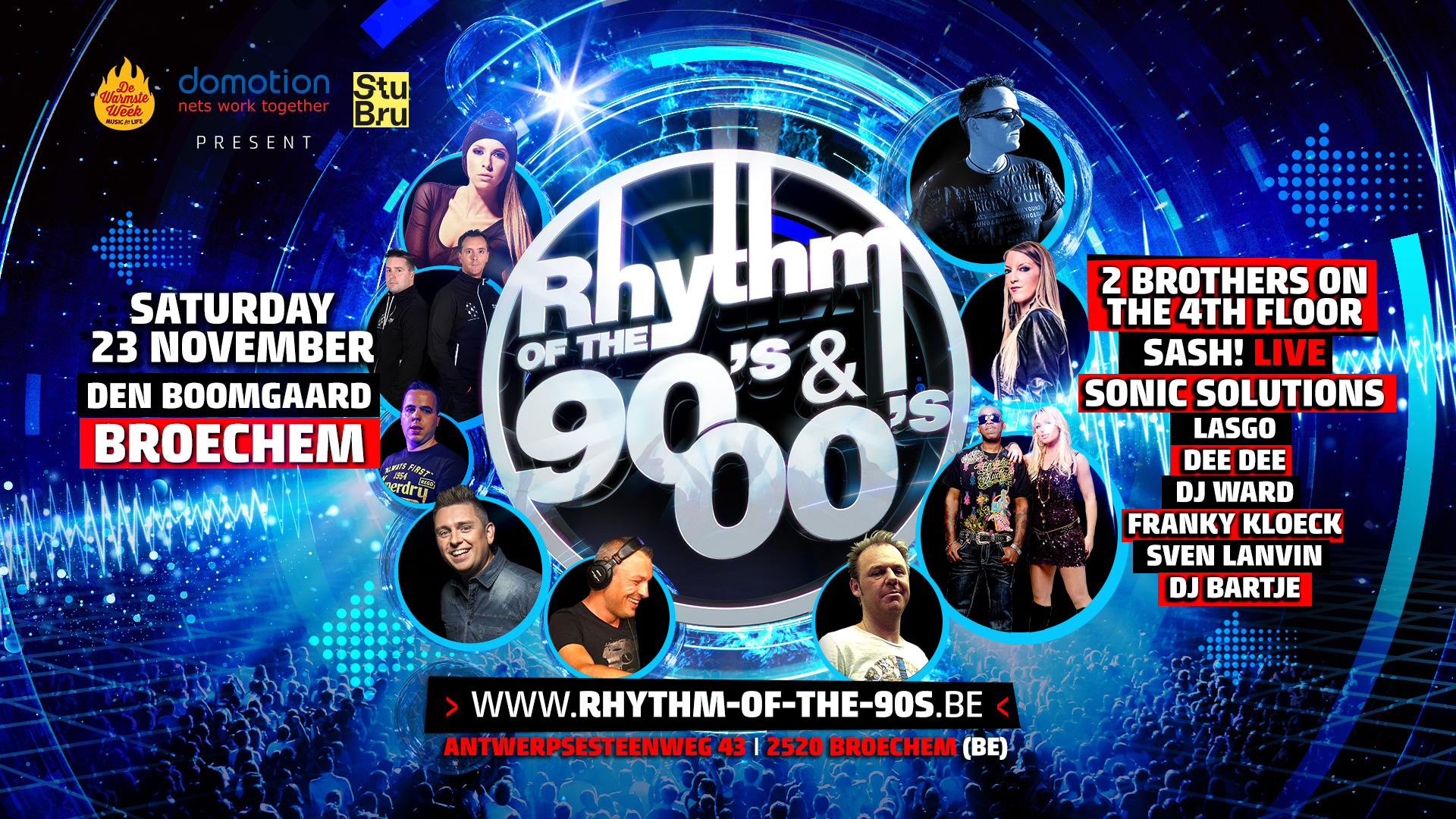 Rhythm of the 90's & 00's affiche op 23/11/2019