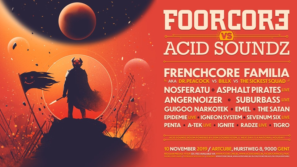 Foorcore vs Acid Soundz affiche op 10/11/2019