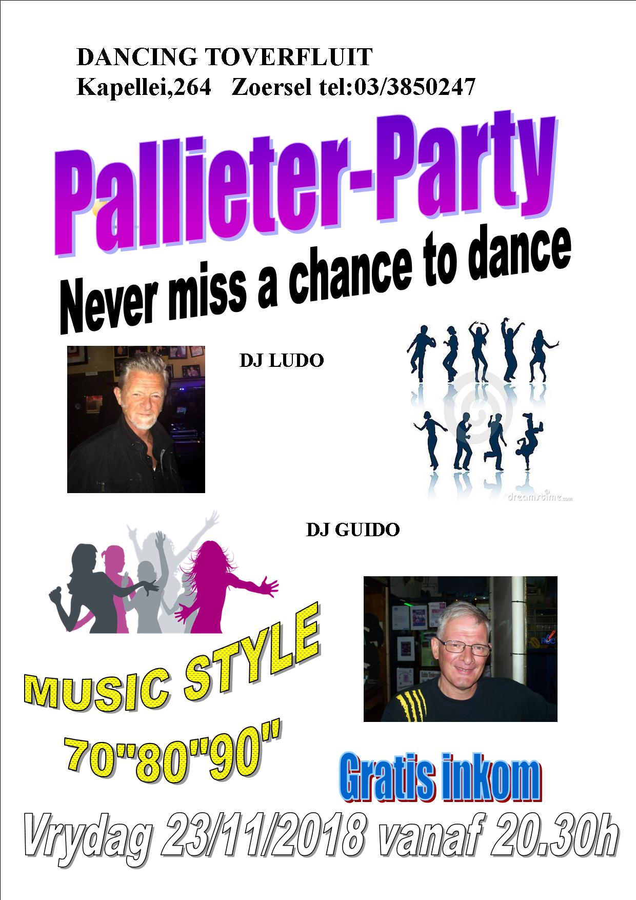 Pallieter Party affiche op 23/11/2018