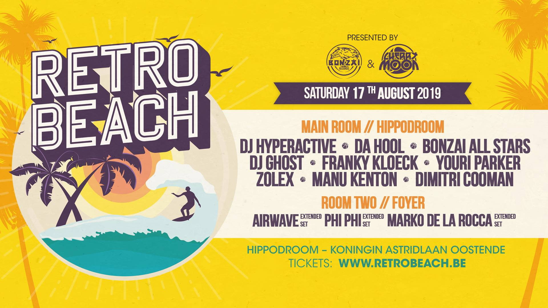 Retro Beach affiche op 17/08/2019