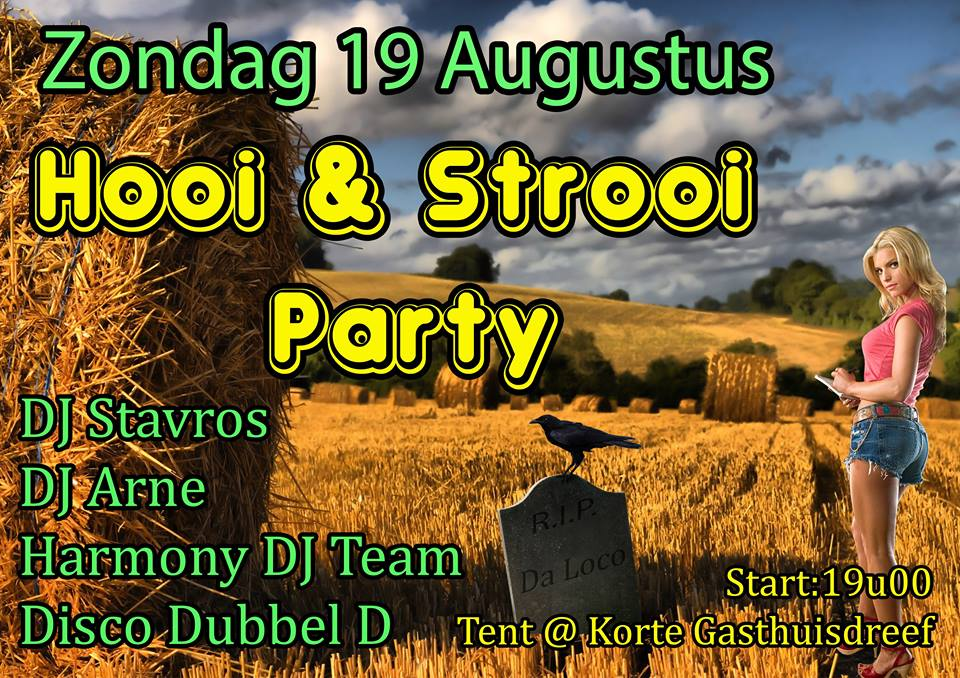 Hooi en strooi party 2018