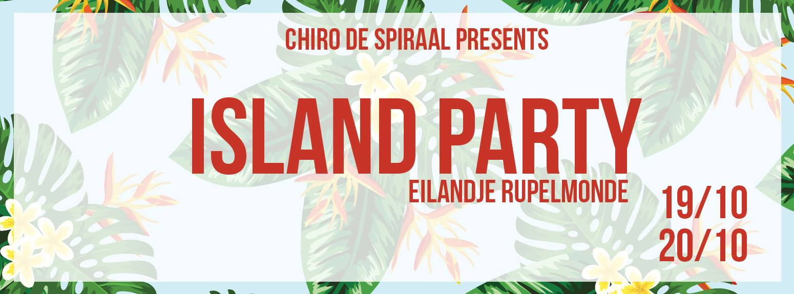 Island Party 2018 affiche op 20/10/2018