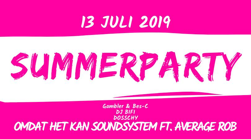 Summerparty 2019 affiche op 13/07/2019