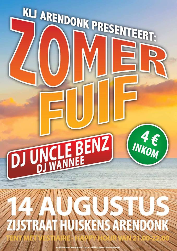 Zomer fuif 2018